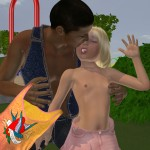 Lolicon 3D Images Girls and dogs Tessi on the playground 2 (11)