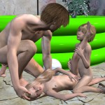Funny Pool Games Lolicon Shotacon 3D Images (36)