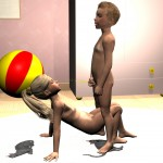 Peeing Kids Shotacon Lolicon 3D Images (22)